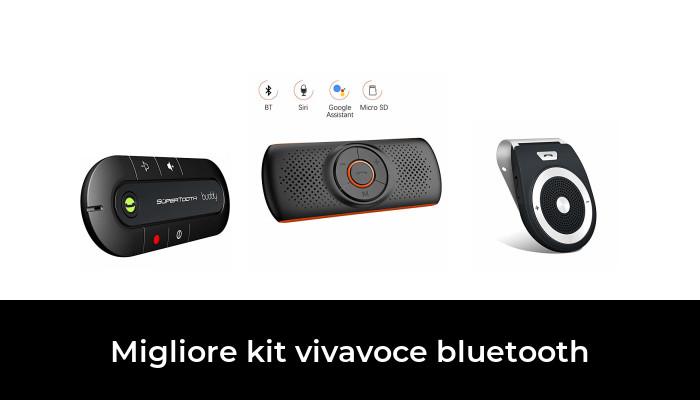 ForceSthrength Kit Vivavoce per Auto Altoparlante a Clip per Parasole per Auto multipunto per Auto Nero