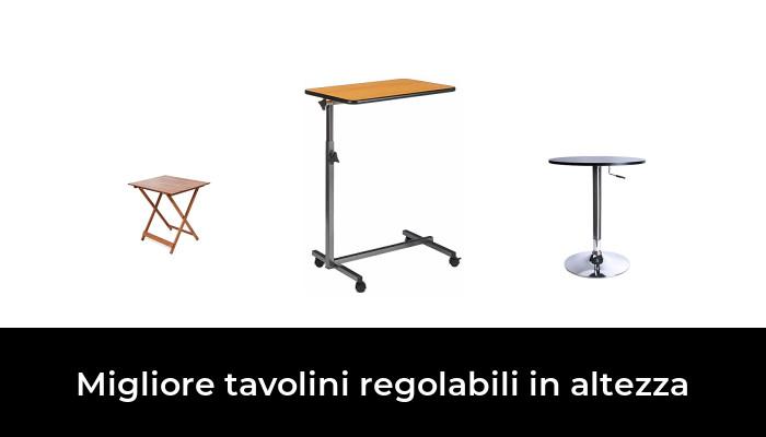 65 x 55 cm Bianco Seville Classics Tavolo Regolabile in Altezza